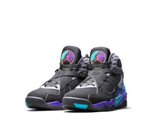 nike air jordan 8 retro aqua Black True Red Flint Grey Bright Concord 305381-025 p
