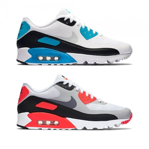nike air max 90 ultra essential og colourways White-Laser Blue-Black-Neutral Grey 819474-101 White-Infrared-Black-Cool Grey 819474-106 f