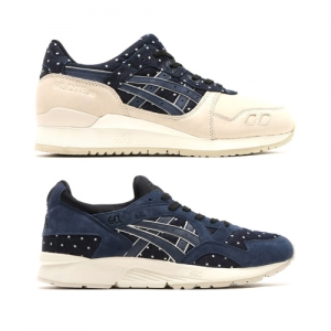 asics tiger gel-lyte iii v japanese textile pack denim polka dot indian ink f