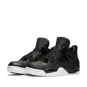 nike air jordan 4 premium pony hair pinnacle Black Sail 819139-010 f