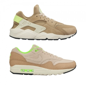 nike air max 1 air huarache string ghost green premium f