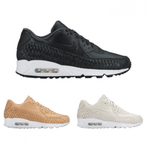 nike air max 90 woven black white vachetta tan phantom 833129-200 833129-002 833129-001 f