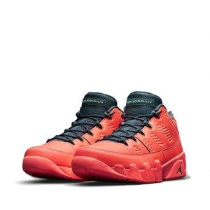 nike air jordan 9 retro low bright mango Ghost Green Hasta 832822-805 f
