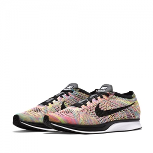 nike flyknit racer multicolour multi multicolor Dark Grey Blue Glow Pink Foil Black 526628-004 f