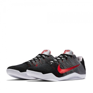 nike kobe xi elite low muse ii Cool Grey Black University Red 822675-060 f