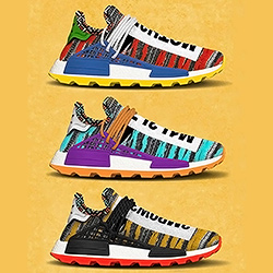 The Pharrell x adidas Afro Hu NMD goes