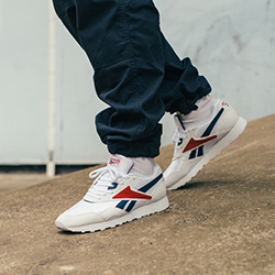 reebok rapide og trainers in white