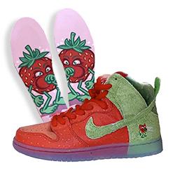 Nike x Todd Bratrud SB Dunk High Strawberry Cough