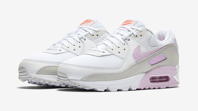 Nike WMNS Air Max 90 White and Pink Foam