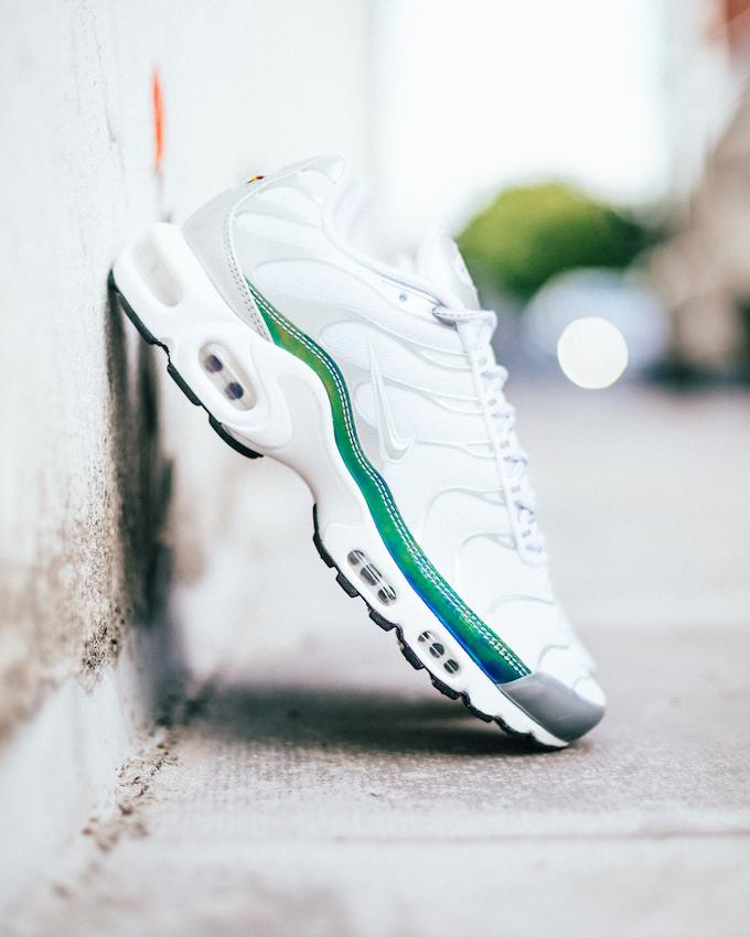 Nike Air Max Plus White and Metallic