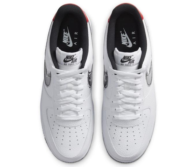 Nike Air Force 1 Brushstroke Swoosh Pack DA4657-001 DA4657-100