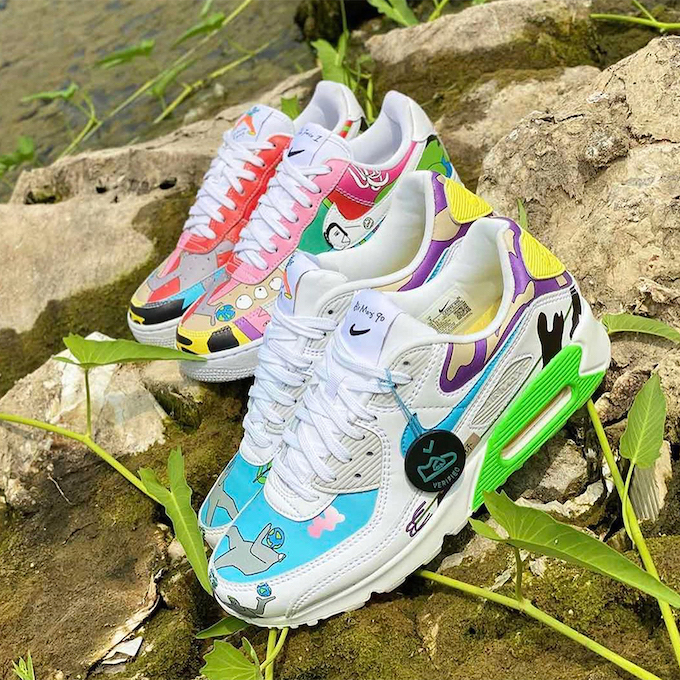 Nike x Ruohan Wang Air Max 90 and Air Force 1 The Drop Date
