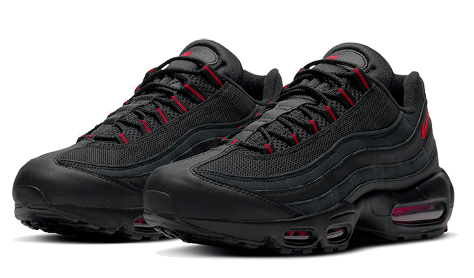 Monarca Ciudadanía Podrido  Nike Air Max 95 Black Red DD7114-001 - The Drop Date