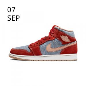 Nike Air Jordan 1 Mid SE Denim DM4352-600