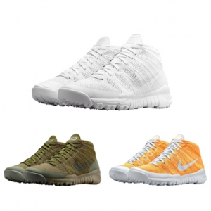 Nike Flyknit Trainer Chukka FSB orange sage white green f