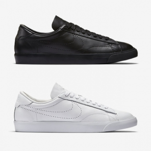 Nike-Tennis-Classic-AC-Premium-Mens-Shoe-black white perforated