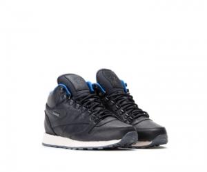 The Drop Date Reebok Classic Leather High Black Blue Gore-Tex f