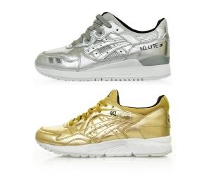asics tiger champagne pack gold silver gel-lyte iii v p