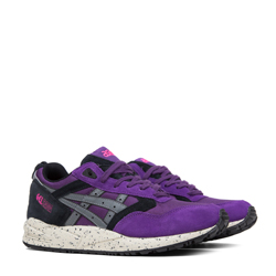 asics tiger gel saga purple and black f