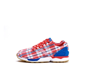 clot x adidas originals zx flux rwb red white blue f