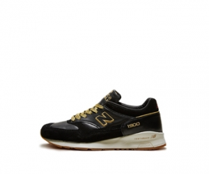 footpatrol x new balance m1500fpk encyclopaedia black leather gold red made in england f