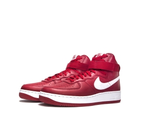 nike air force 1 high premium nai ke naike Gym Red Summit White 743546-600 p