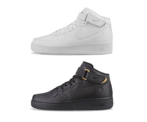 nike air force 1 mid lv8 804609-100 804609-001 white black quilted f