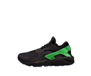 nike air huarache black posion green aluminium f