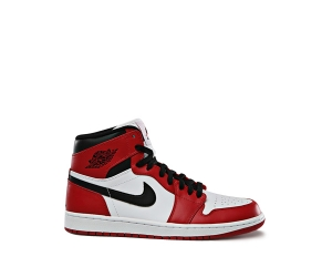 nike air jordan 1 i chicago bulls red black white leather 2015 f