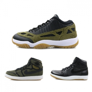 nike air jordan 1 ko militia green the return 1.5 11 low le croc black snake f
