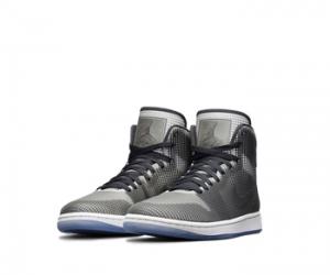 nike air jordan 4lab1 black grey white metallic silver 677690-012 f