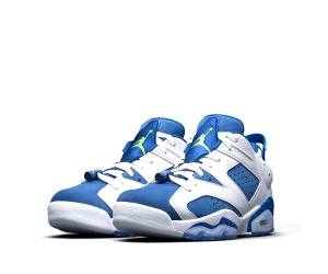 nike air jordan 6 retro low white insignia blue ghost green 304401-106 f2