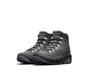 nike air jordan 9 suede black anthracite white 302370-013 p