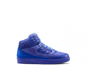 nike air jordan ii x just don blue leather quilted f