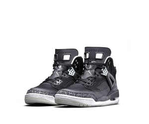 nike air jordan spizike Black Cool Grey Mist White 315371-004 f