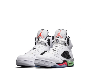 nike air jordan v pro stars poison green White-Infrared 23-Light Poison Green-Black 136027-115 f