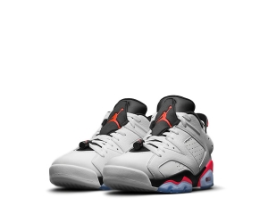 nike air jordan vi 6 retro low og infrared white black 23 304401-123 f