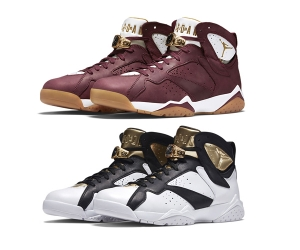 nike air jordan vii cigar and champagne pack Team Red Sail 725093-630 White Metallic Gold Black 725093-140 f