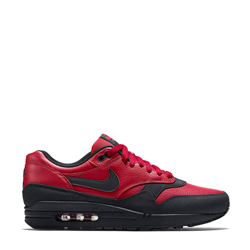 nike air max 1 leather prm gym red and black f