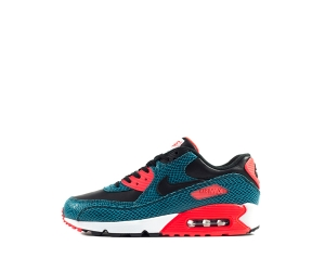 nike air max 90 25th anniversary infrared dusty cactus snakeskin blue snake Black White 725235-300 P