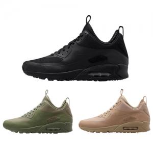 nike air max 90 sneakerboot patch black steel green sand f