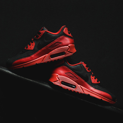 nike air max 90 winter prm gym red and black f