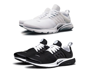 nike air presto br white black f