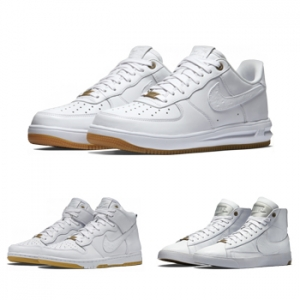 nike blazer dunk lux high lunar force 1 white hot f