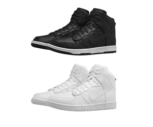 nike dunk high lux sp white black mono