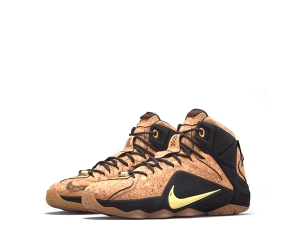 nike lebron 12 ext king's cork natural black metallic gold 768829-100 f