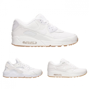 nike premium white gum ostrich pa leather pack air max 90 1 huarache run f