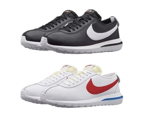 nike roshe cortez black forrest gump white red leather f