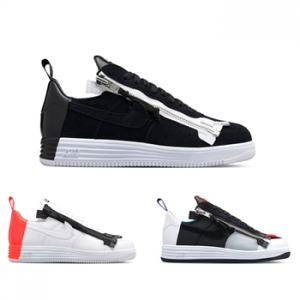 nikelab x acronym lunar force 1 sp zip black white bright crimson turbo green court purple